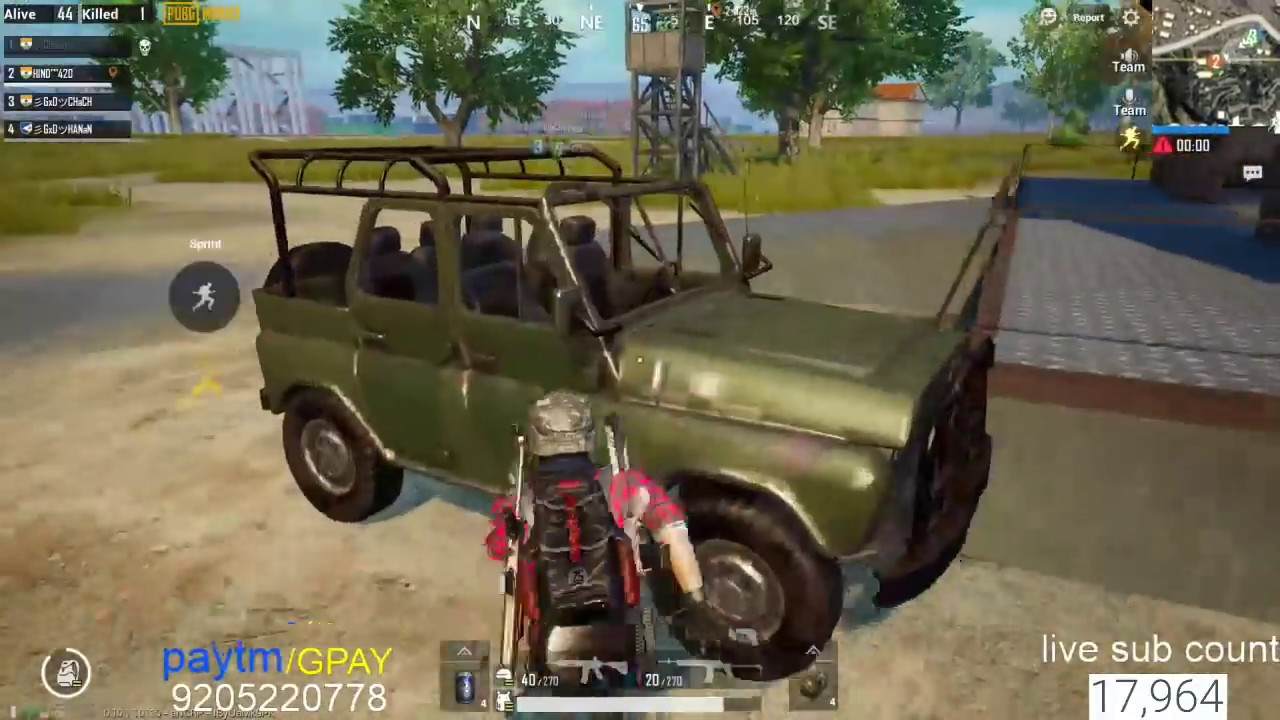 PUBG MOBILE LIVE HIND #13 LONG SHOT ASIA SERVER ONLY CHICKEN#1