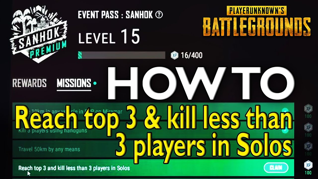 PUBG – Reach Top 3 and Kill less than 3 players in Solo – Stream Highlight #019