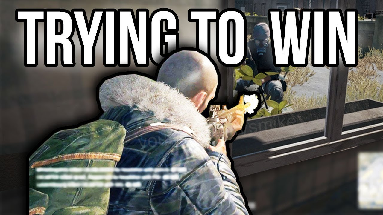 Trying to win at PUBG