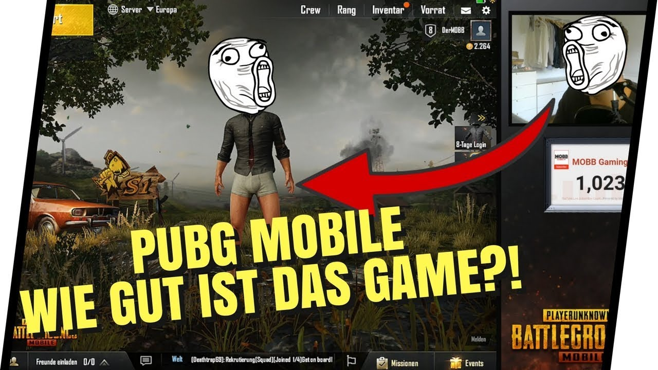 MOBB GamingTV spielt PUBG Mobile! | SO FINDE ICH DAS GAME! | PUBG Mobile [Deutsch]