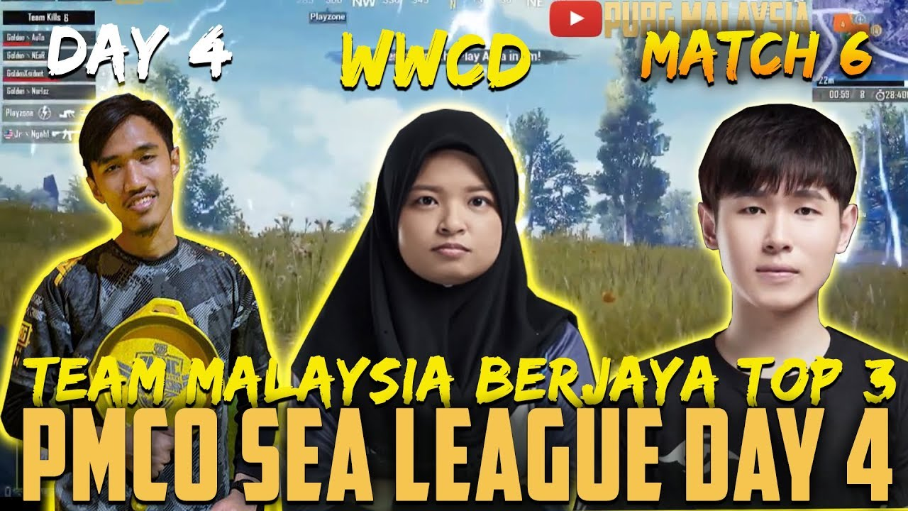 Team Malaysia Berjaya Top 3!! PMCO SEA League Day 4 MATCH 6 | PUBG MOBILE CLUB OPEN 2019