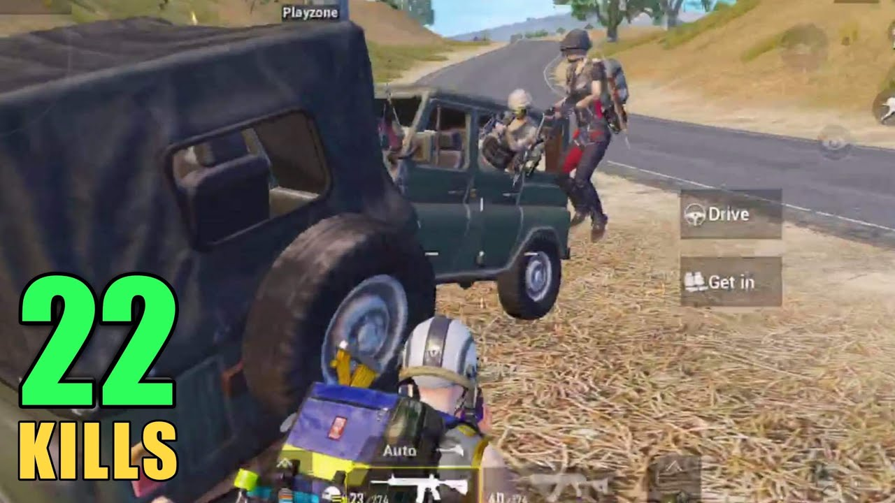 WHEN A FULL SQUAD PUSHED MY CAR | SOLO VS SQUAD | PUBG MOBILE