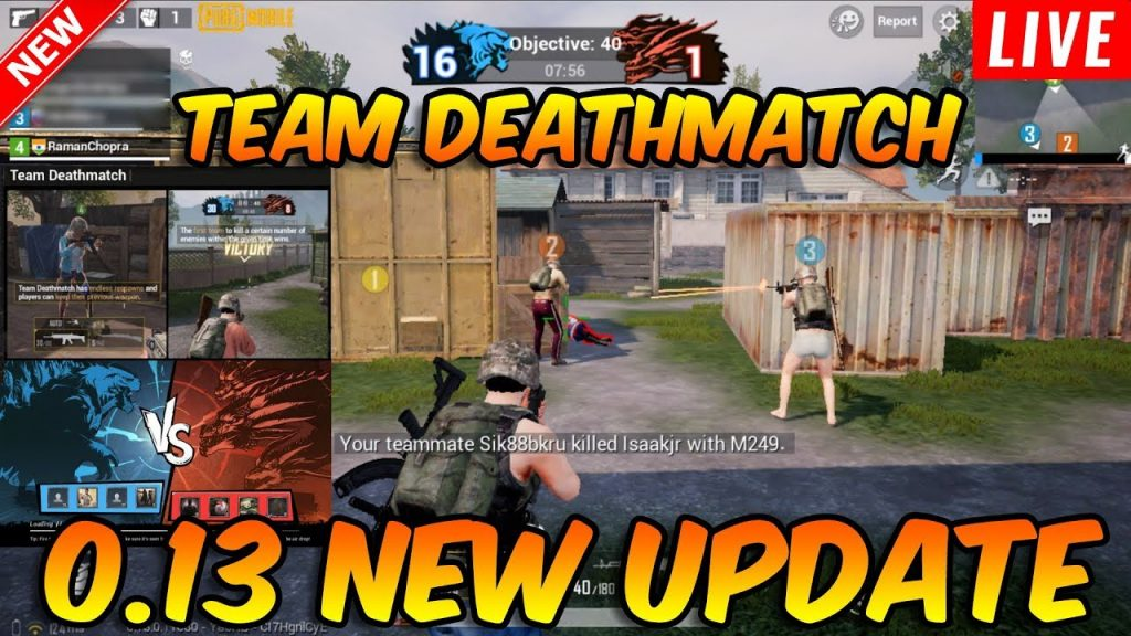 0 13 NEW UPDATE | TEAM DEATHMATCH - PUBG MOBILE