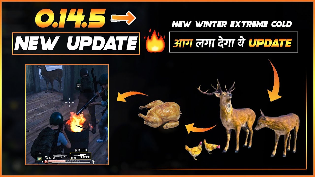 PUBG Mobile 0.14.5 New Update!! Every PUBG player Should watch this Video || Deer and Chicken Update