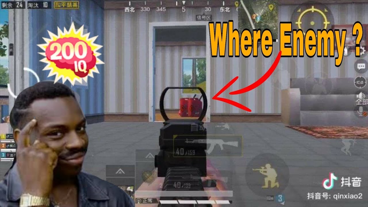 200 IQ and – 200 IQ | pubg Mobile funny and WTF moments # 106