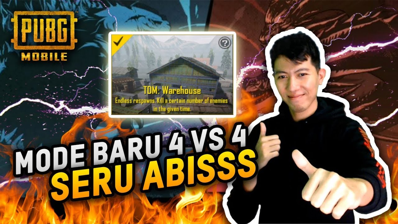 MODE TDM GILA SERU ABIS 4 VS 4 !! – PUBG MOBILE INDONESIA