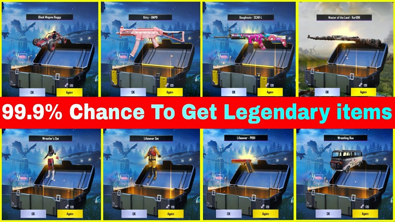 99.9% Chances to Get Legendary items in PUBG Mobile    Best Server Germany vs Taiwan