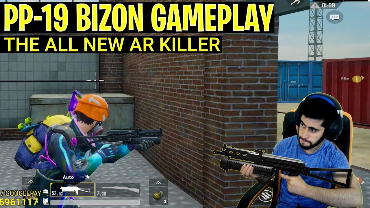 Pubg mobile season 8 new weapon PP-19 bizon AR killer? | Wait for ending intense | Rowdy gaming
