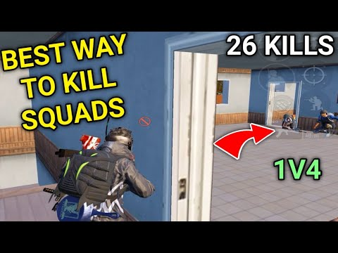 Best Way To Kills Squads While Playing Solo VS Squad In PUBG Mobile