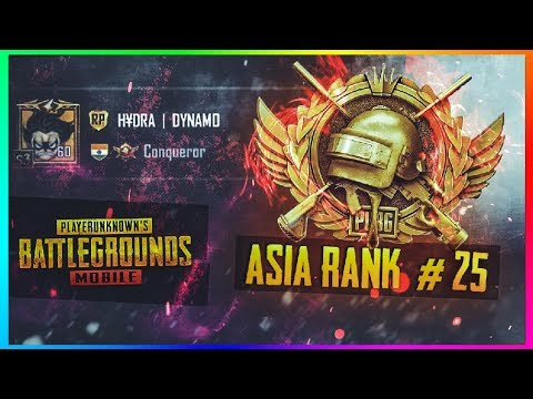 PUBG MOBILE LIVE | #20 RANKED PLAYER ASIA SERVER | CONQUEROR GAMEPLAYS ONLY
