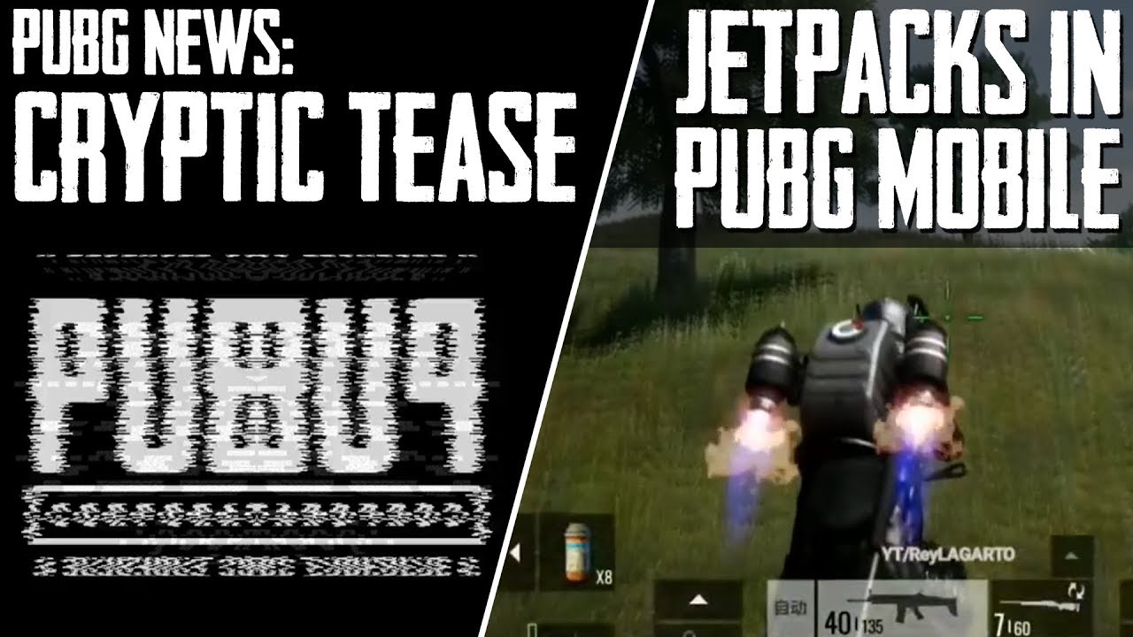 PUBG News | CRYPTIC TEASE BY PLAYERUNKNOWN + JETPACKS IN PUBG MOBILE + PING REMOVED