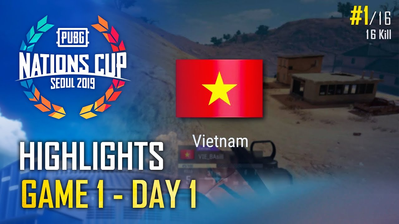 [HIGHLIGHTS] Vietnam All-Stars đoạt top 1 ở round đầu tiên | PUBG Nations Cup 2019