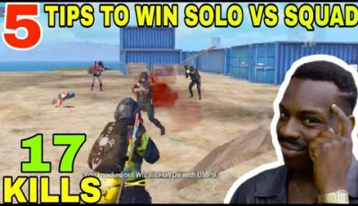 5 TIPS TO WIN SOLO VS SQUAD • (17 KILLS) • PUBG MOBILE GAMEPLAY (HINDI)