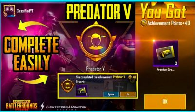 EASY WAY TO GET FREE 3 PREMIUM CRATE COUPONS – PREDATOR 5 ACHIEVEMENT IN PUBG MOBILE
