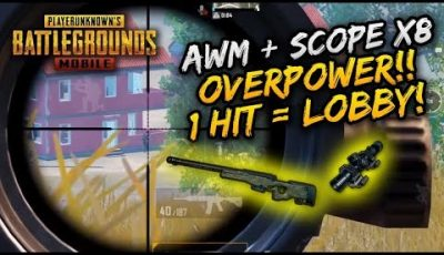 AWM + SCOPE X8 OVERPOWER!! 1 HIT LOBBY SEMUAA!! | SOLO VS SQUAD | PUBG MOBILE