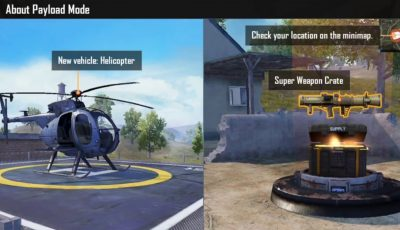 PUBG MOBILE NEW UPDATE 0.15 : PAYLOAD MODE (HELICOPTER) – AIR STRIKE – RECALL TEAMMATE – BRDM – RPG