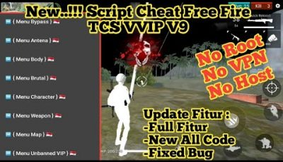 🔴UPDATE…!!! Cara Cheat Free Fire 1.41.2 | Script TCS VVIP V9 & Apk Antena FF | No Root