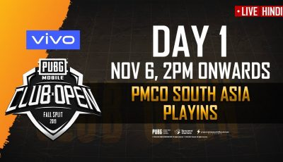 [Hindi] PMCO South Asia Regional Playins Day 1 | Fall Split | PUBG MOBILE CLUB OPEN 2019