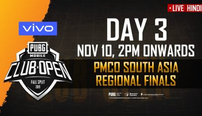 [Hindi] PMCO South Asia Regional Finals Day 3 | Fall Split | PUBG MOBILE CLUB OPEN 2019