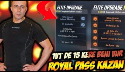 1V1 DE 15 KERE BENİ VUR ROYAL PASS KAZAN !! PUBG MOBİLE CUSTOM ROOM CANLI YAYINI !!