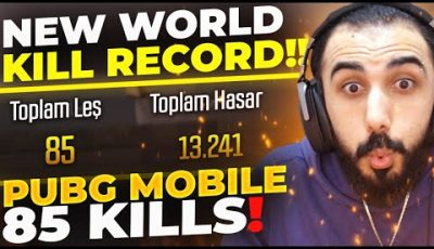 85 KILLS!! 😮 PUBG MOBILE NEW WORLD RECORD!!