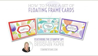 How to make a set of Nested Floating Frames Cards with the Pleased as Punch Paper