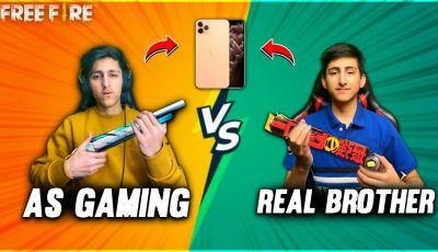 As Gaming Vs Real Brother | I Phone Challenge Free Fire😍| My Brother Face Reveal – Garena Free Fire