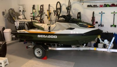 My new Sea Doo Fish Pro with rod holders and live bait well